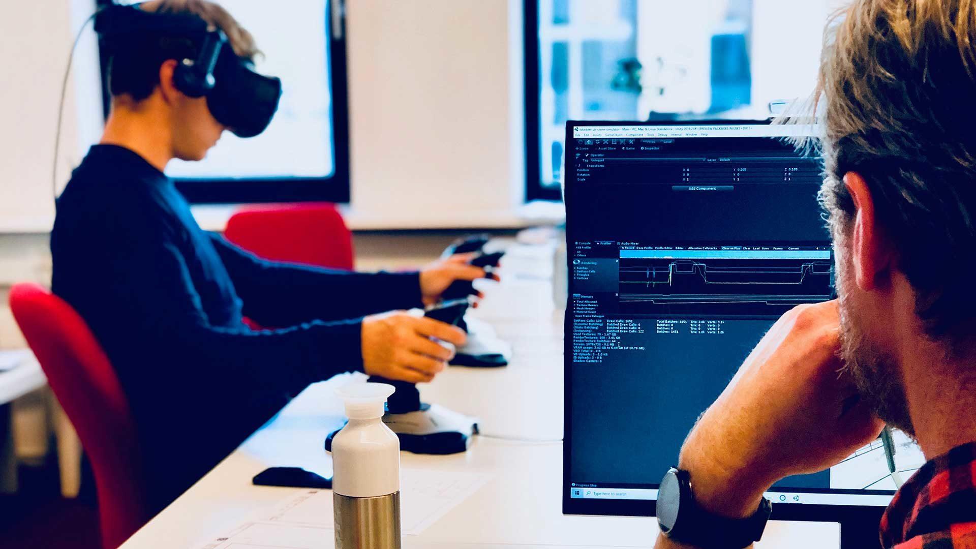 VR crane simulator